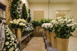 Sklep kwiatowy w pobliżu sali pożegnych, Ul.Pal.J.Matulaičio kw.3, Wirszuliszki, Wilno